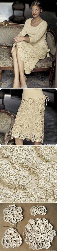 Очаровательная юбка из мотивов
