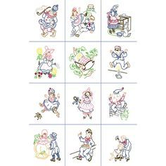 Fairway Nursery Rhymes Quilt Blocks Needlecraft Co 92328