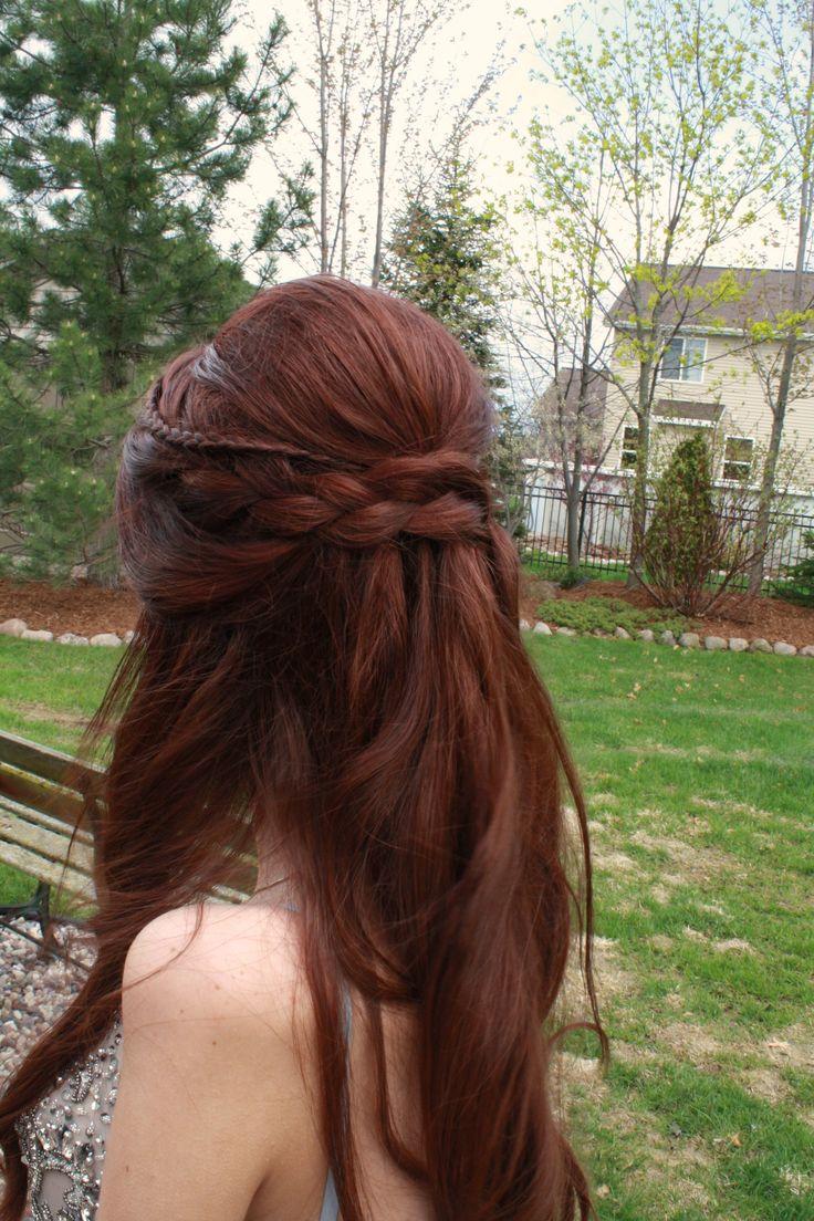 half up half down ball hair <3