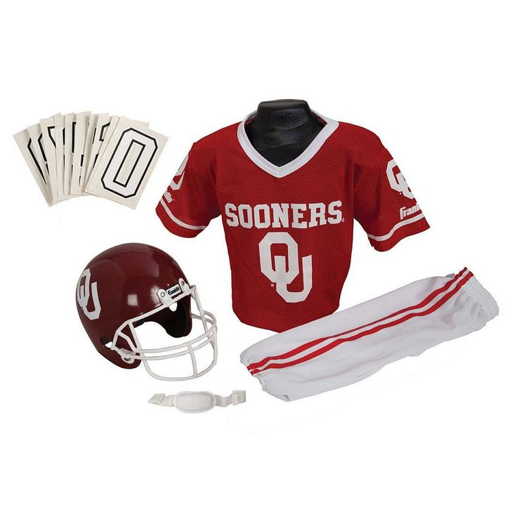 Franklin Oklahoma Sooners Football Uniform, Boy's, Size: Medium, Multicolor