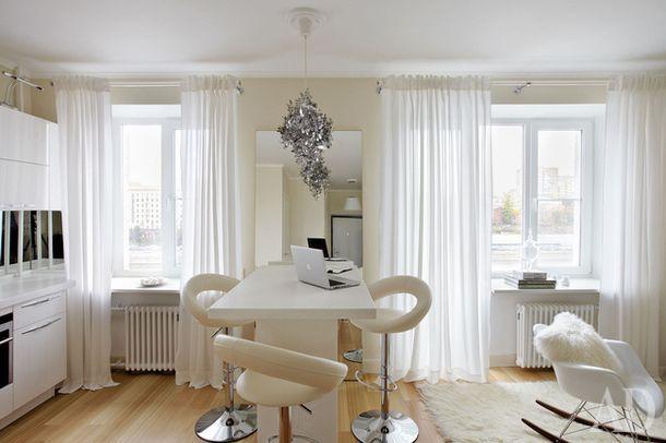 Квартира-студия в доме на набережной, 34 м²