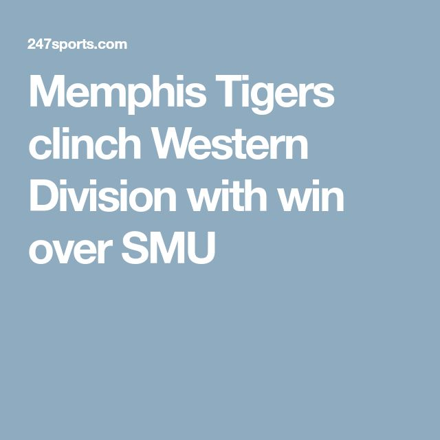 Memphis Tigers clinch Western Division with win over SMU