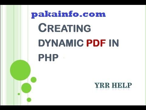 FPDF generate PDF Files using PHP dynamically Step By Step