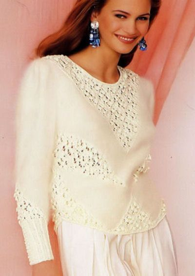 Annyblatt - Annyblatt and Boutondor knitting yarn and knitting yarn kits - Annyblatt and Bouton d'or Vintage knitting patterns - Annyblatt Angora sweater knitting kit Beira