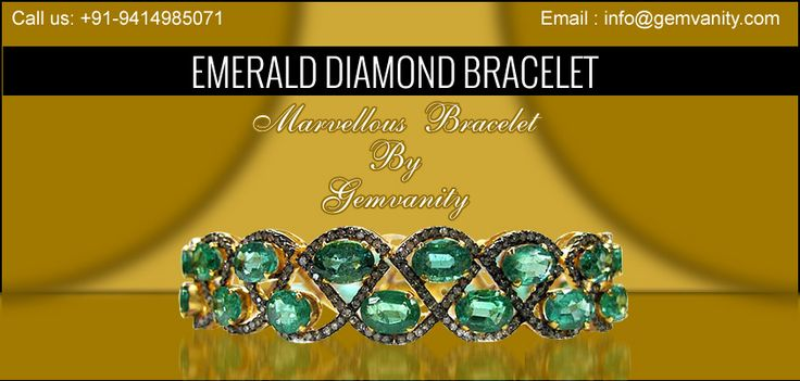 Shop Marvellous Emerald Diamond Bracelet From Gemvanity