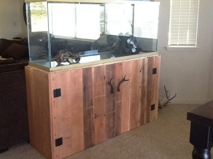 Custom made pallet fish tank stand rustic country decor for Fish tanks with stands