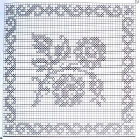 """Da revista """"Labores de oro - manteles 4"""", quadrados de renda alternados, rematados com ponta de bicos.           manela"""