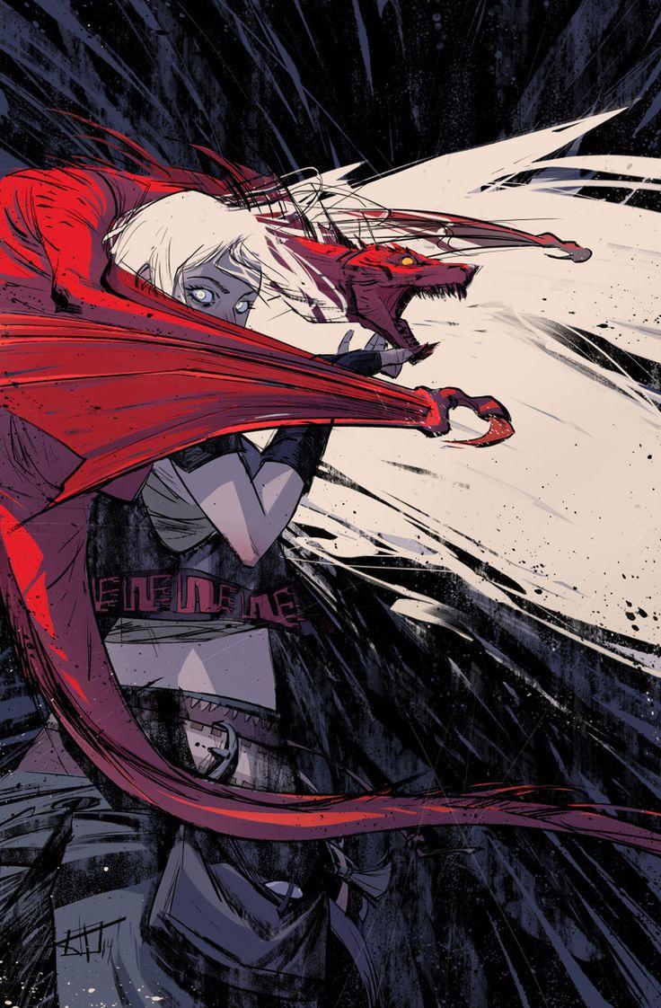 GAME OF THRONES Art - Daenerys Targaryen and Dragon — GeekTyrant