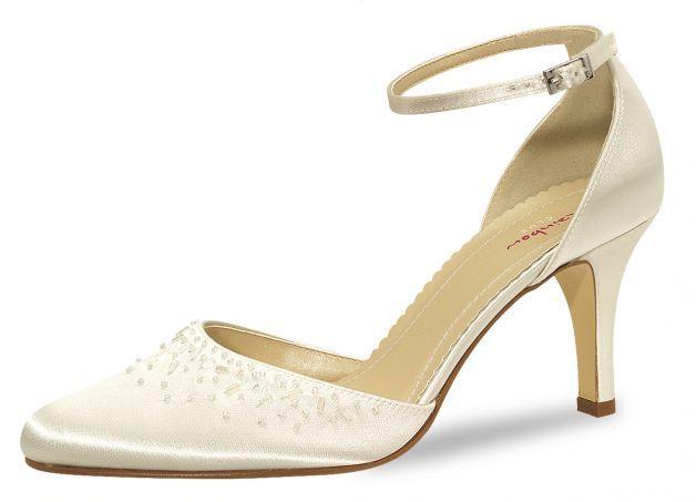 Rainbow Club Delina bruid schoen. Deze kan in elk gewenste kleur worden geverfd. €144,95 www.javinaro.nl / info@javinaro.nl / 06-25310131
