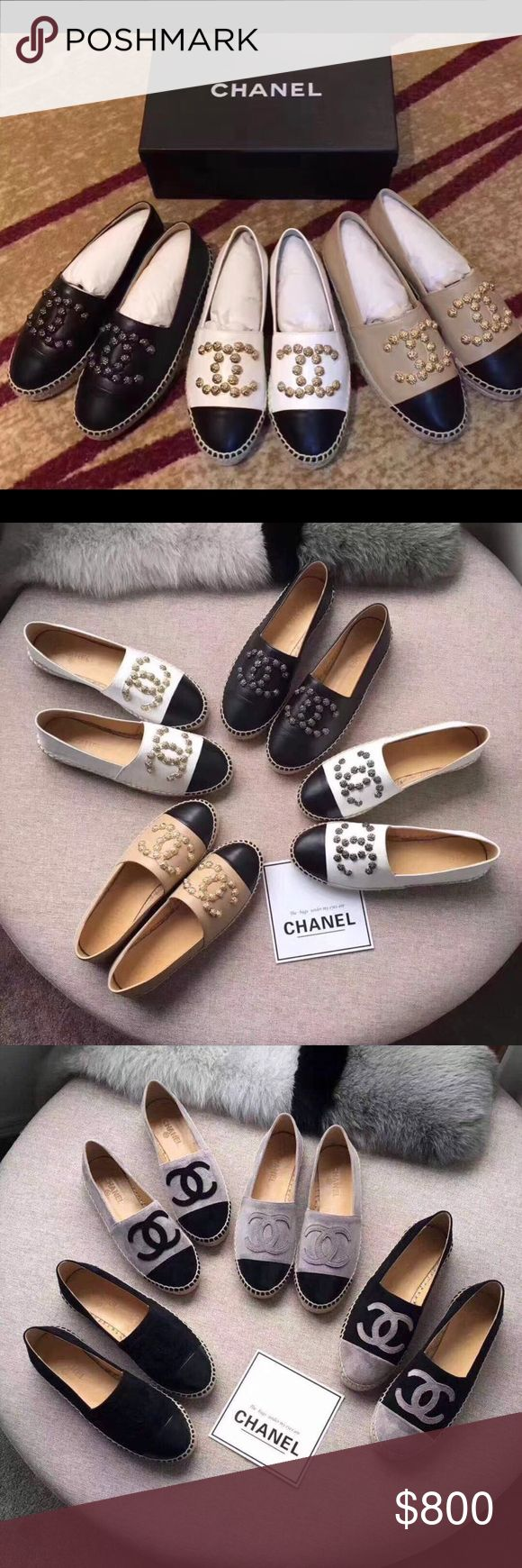 Chanel Espadrilles different colors sizes Sale by orders only. Chanel Espadrilles different sizes colors and styles. If interesting contact at eligirl1508@gmail.com I won't answer any question by here. CHANEL Shoes Espadrilles