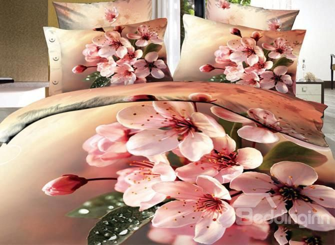 Beautiful Pink Flowers Print 3d Bedding Sets On Sale Buy Retail