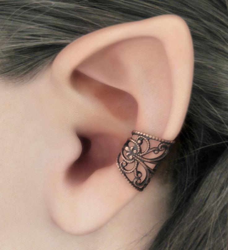 Soft Whispers - Copper Filigree Ear Cuff. $15.00, via Etsy.
