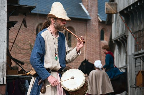 medieval musician by hans s, via Flickr