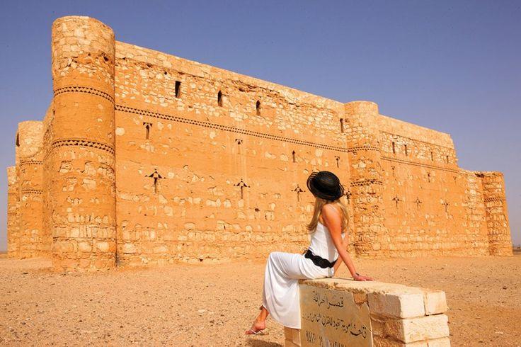 Al-Harrana, salah satu kastel di Dessert Castles, Yordania.