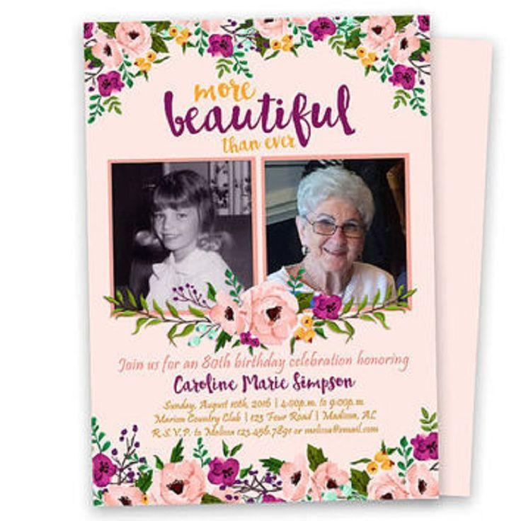 80th birthday invitations for a woman 90th birthday