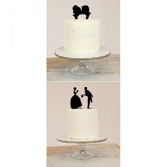 """Des """"cake toppers"""" en forme de silhouettes - Marie Claire Idées"""