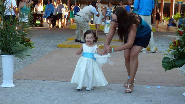 My daughter the flower girl