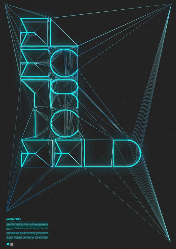 'Electric' Typography, lettering & calligraphy inspiration | From up North