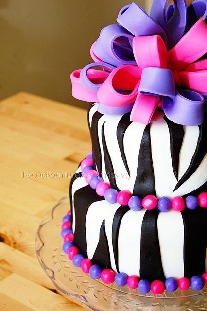 Gâteau au fondant zèbre Catherine ' s best
