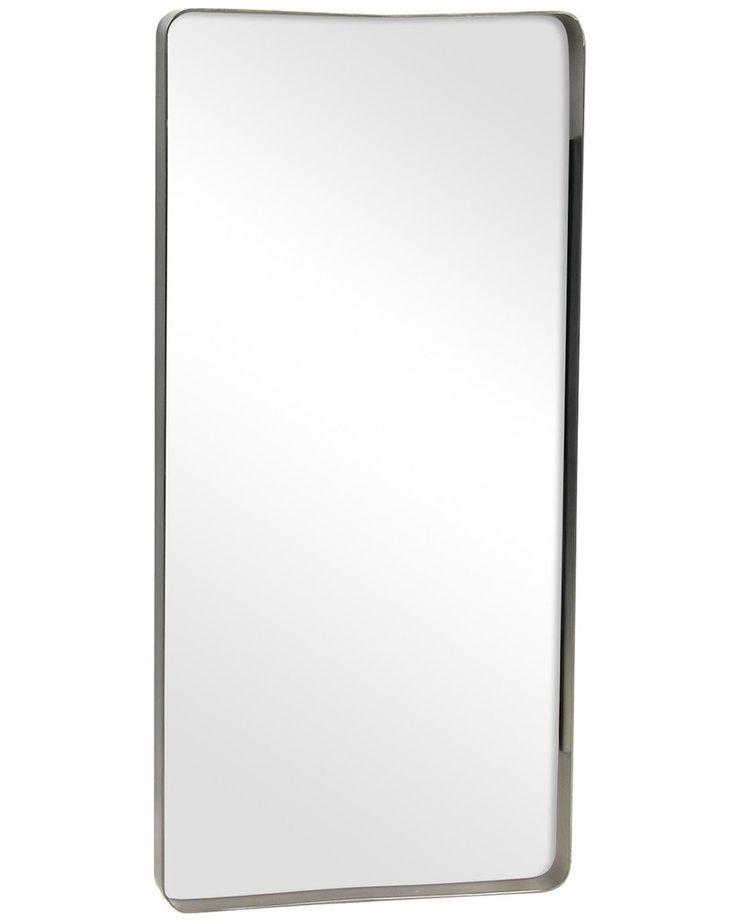 Pewter Framed Rectangular Wall Mirror, Large | Free Delivery