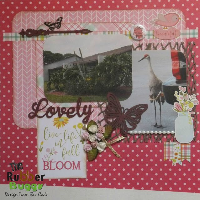 Bee Cee Creativity: Lovely layout using The Rubber Buggy products.... PhotoPlay Bloom