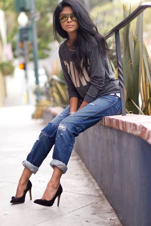 - 166 Best Ripped Jeans & Heels All Day Images On Pinterest
