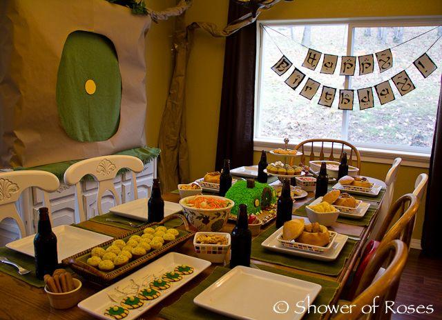 A hobbit birthday party i love this idea especially the for Hobbit themed bedroom