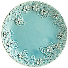 Aqua Blossoms Relief Platter  $39.95    This ceramic platter doesn't need any additions since it's already covered with beautiful sculpted blossoms. However, if you wish to go all out, you could include colorful a gem mix for the ultimate display or gift.