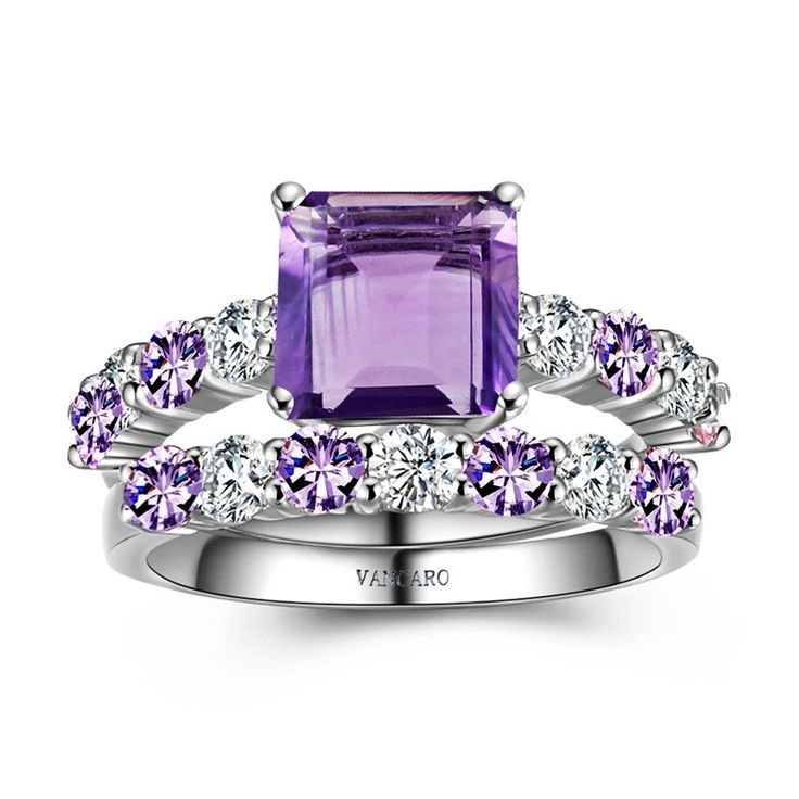 1000 ideas about purple engagement rings on