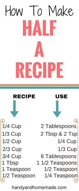 How To Make Half Of A Recipe