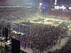 Tens of thousands of Christians flocked to the University of Phoenix Stadium in Glendale, Arizona, on Sunday night for Harvest America, an event aimed at s