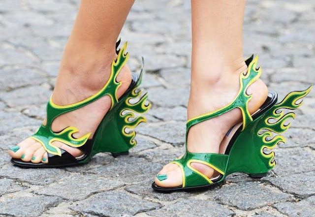 Love these!: Green Shoes, Green Dragon, Crazy Shoes, Prada Shoes, Weird Shoes, Heels, New Shoes, Tommy Ton, Hotrods