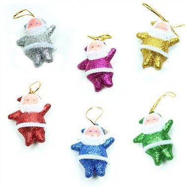 Cicili bicili noel baba   Yılbaşı Ağacı Süsü Simli Noel Babalar (6 Adet)  http://www.hediyepaketim.com/?urun-27344-yilbasi-agaci-susu-simli-noel-babalar--6-adet-