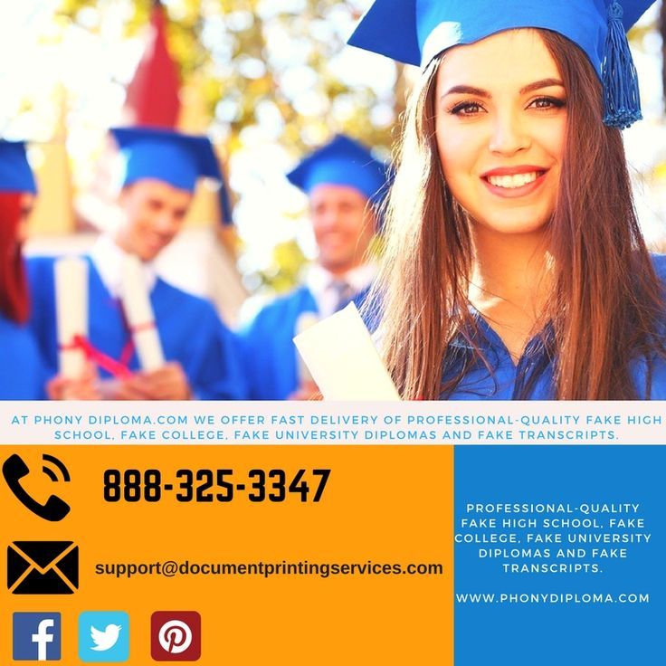 Want to buy fake degree, diploma online? We offer all kind of degrees, diplomas, transcripts, certificate all over the world. Call us today at 888-325-3347 .