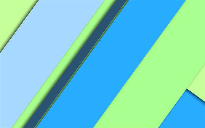 Download wallpapers blue green abstraction, geometric background, material design, android