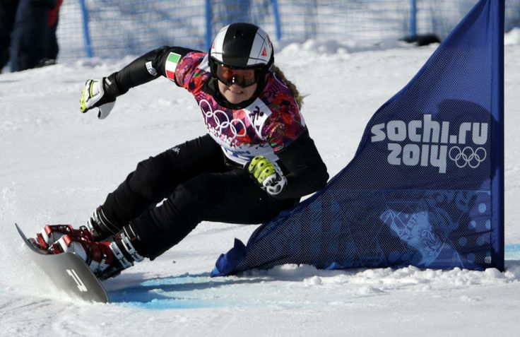DAY 13:  Corinna Boccacini of Italy competes during the Snowboard Ladies' Parallel Giant Slalom http://sports.yahoo.com/olympics