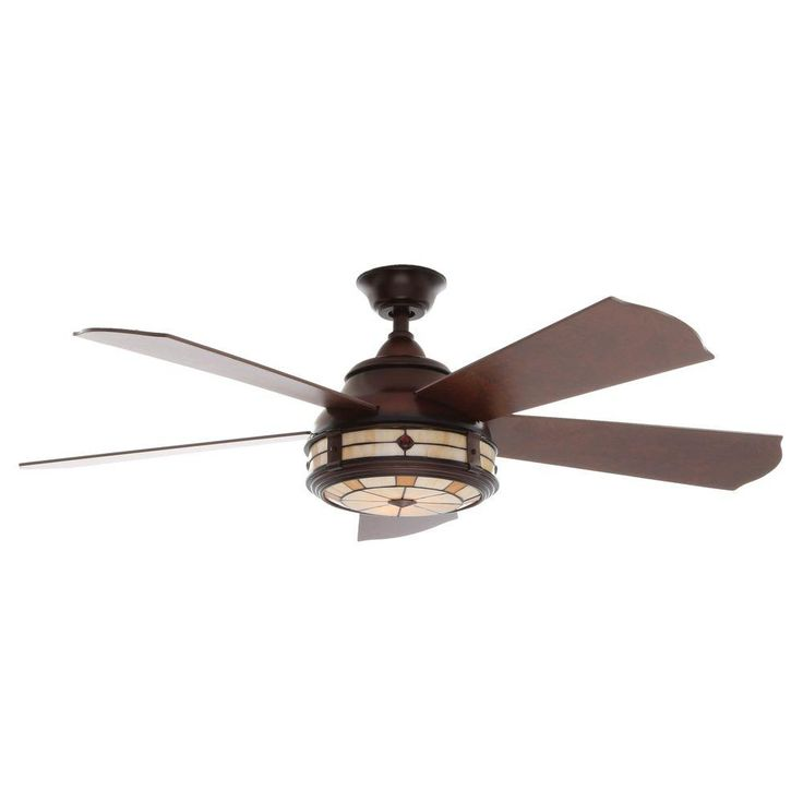Hampton Bay Savona 52 in. Weathered Bronze Ceiling Fan-AC386-WB - The Home Depot