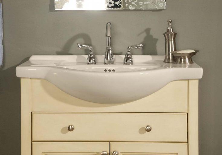 Narrow Depth Vanity For A Bathroom Sink