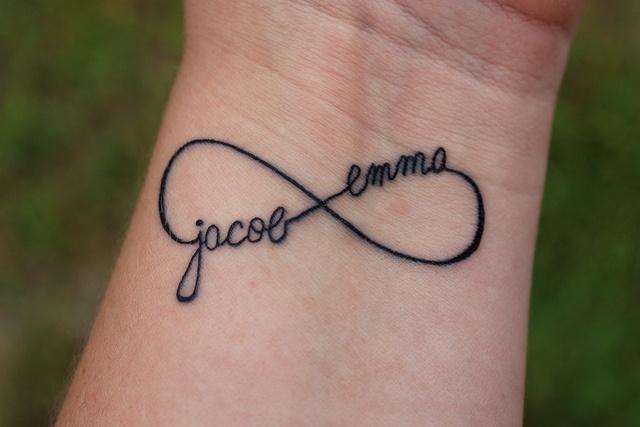 Infinity Name Tattoo