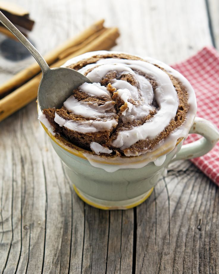 (Paleo) Cinnamon Roll In A Mug. I've eaten this three times this week! It is SO good!!! So easy to make!