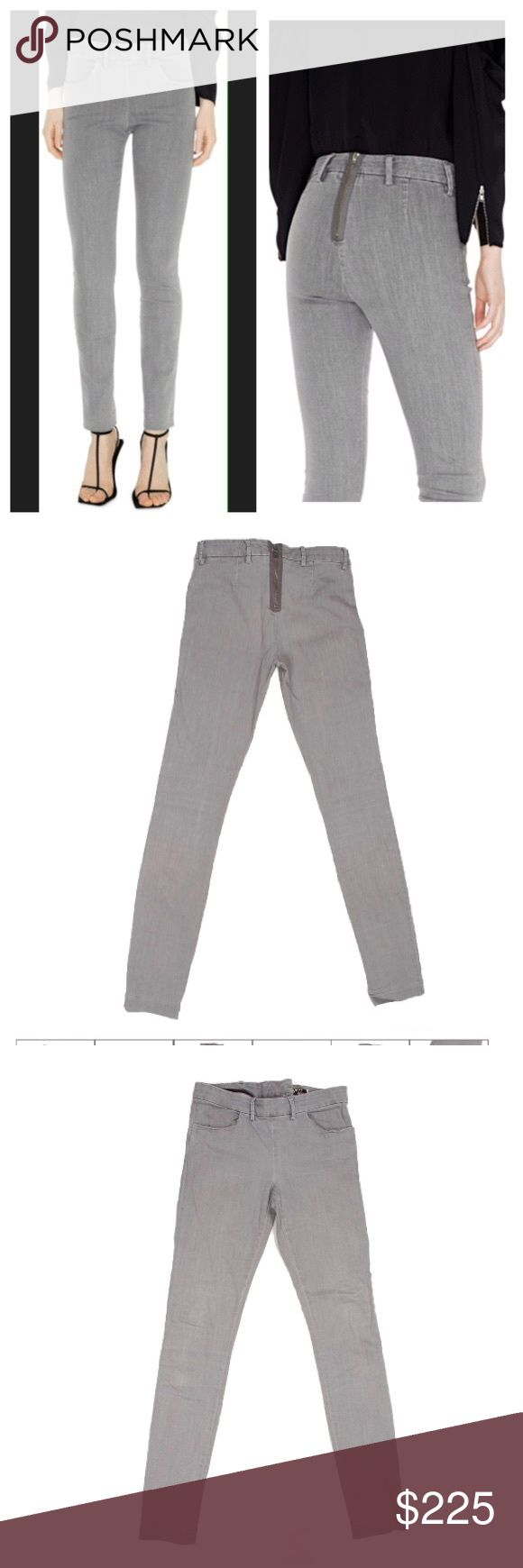 ACNE SKIN ZIPPER JEANS ACNE STUDIOS SKIN GREY SLIM-SKINNY FIT WOMEN JEANS  100% Authentic Tag Size: 28/34 Condition: good (Evaluation - 8/10)  Color: grey Material: 92% cotton, 5% PES and 0.03% lycra.  ACUAL MEASUREMENTS (Taken by Tape Item Laid Flat)  WAIST from side to side: 37 cm or 14 1/2'' TOTAL LENGTH from waist to the leg opening: 104 cm or 41'' LEG OPENING from side to side: 14 cm or 5 1/2'' INSEAM from crotch down to the leg opening: 83 cm or 32 3/4'' Acne Jeans Skinny