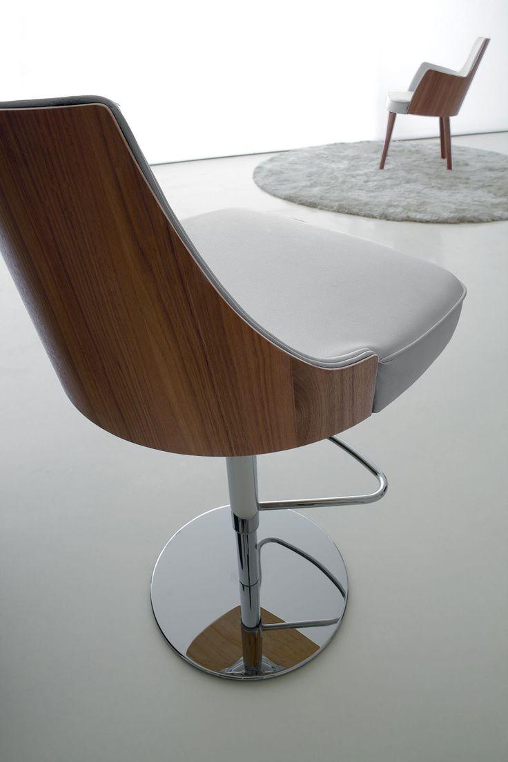 sgabello bar alto acciaio bianco cucina schienale pelle girevole imbottito metallo nero poggiapiedi regolabile rosso arredamento casa moderno on line