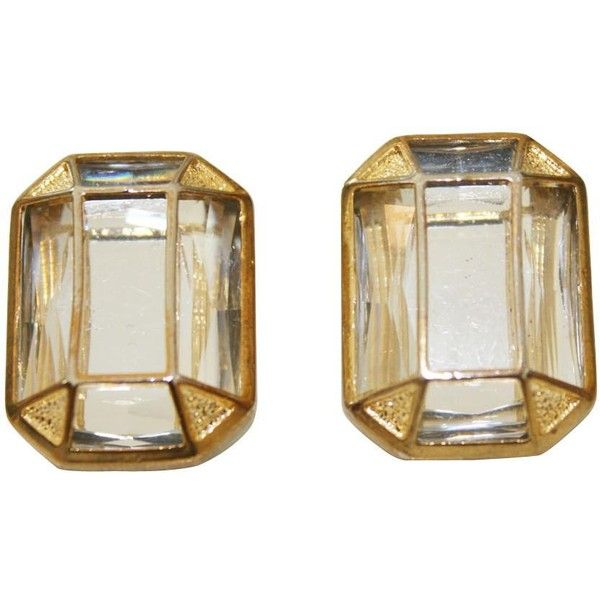 Kardashian Kollection Stone Art Deco Stud Earrings (2,800 INR) ❤ liked on Polyvore featuring jewelry, earrings, stone earrings, earrings costume jewellery, costume jewelry, stone jewelry and art deco stud earrings