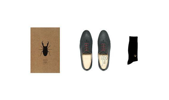 Черные мужские кожаные ботинки сделаны во Франции вручную / по NumeroNoir