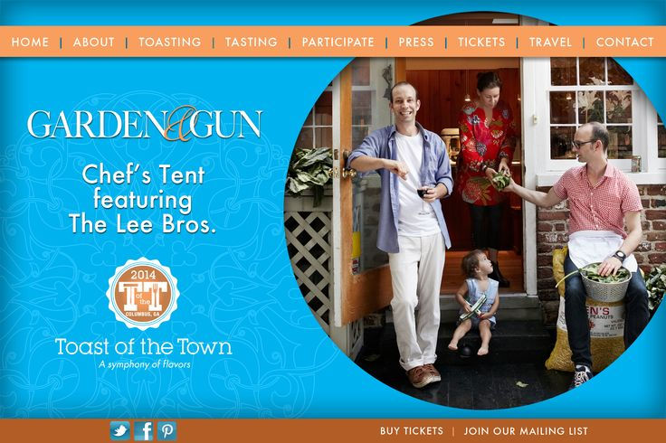 The is a rotating image for the home page of the Toast of the Town website for 2014.