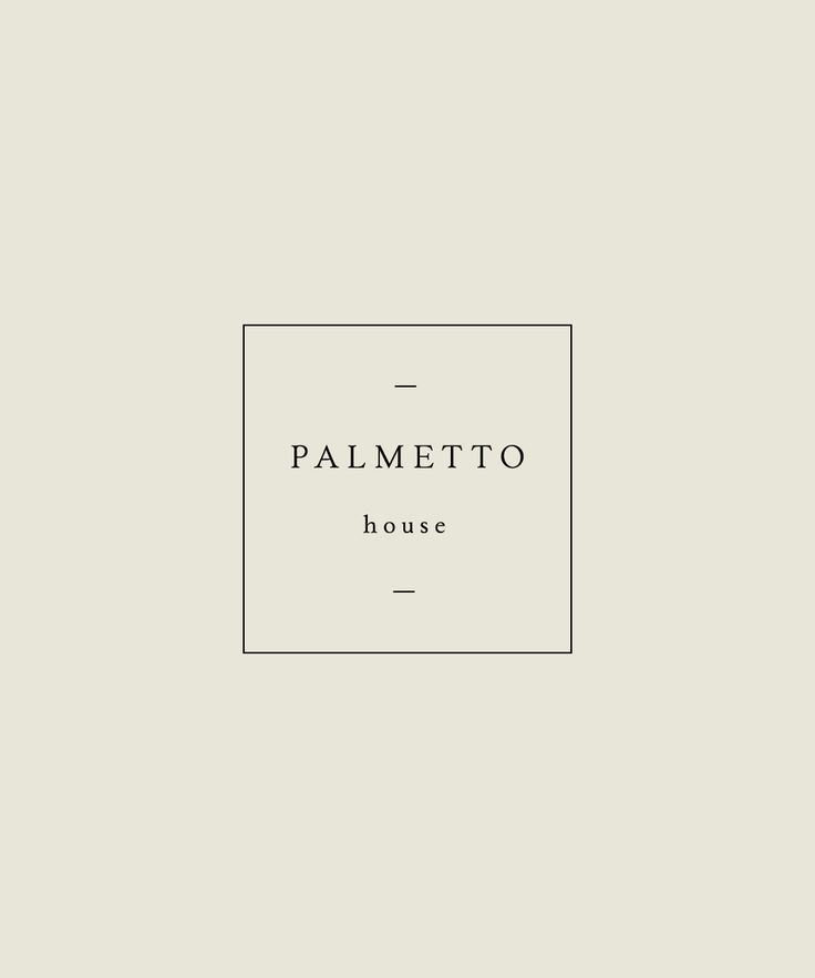 Logo design | Palmetto House | Hazel and Roman