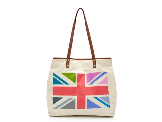 Colorful Union Jack Tote