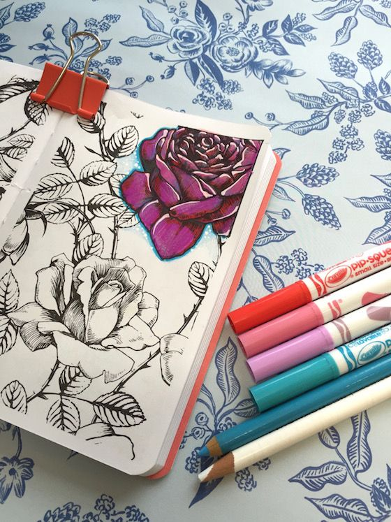 Tip: Adding White Accents to Colored Images  Davlin Publishing #adultcoloring
