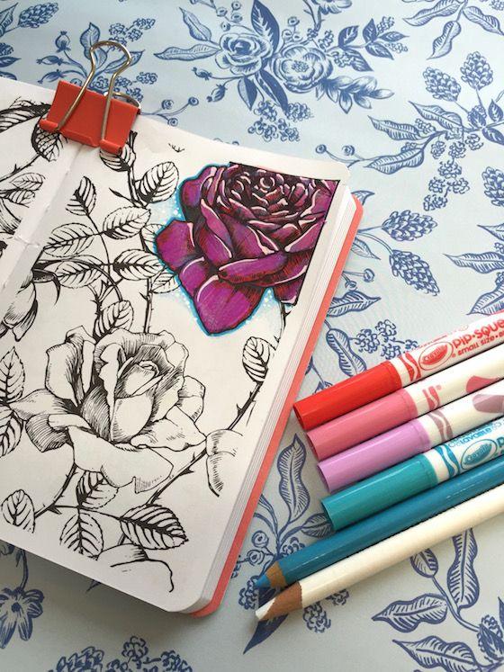 389 Best Images About Coloring Techniques On Pinterest
