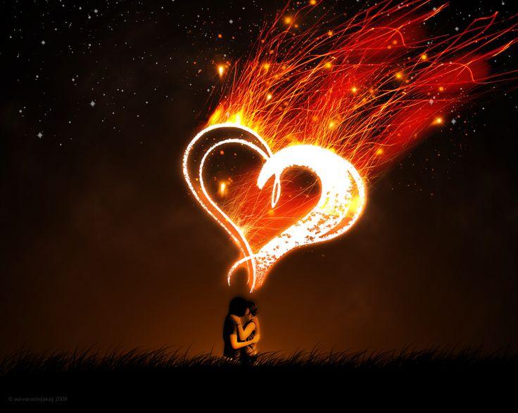 love fireworks wallpaper heart
